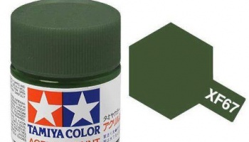 XF-67  NATO Green Acrylic Paint Mini XF67 - Tamiya