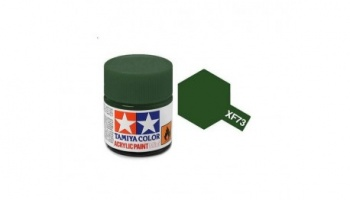 XF-73  Dark Green Acrylic Paint Mini XF73 - Tamiya