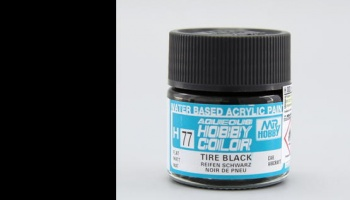 Hobby Color H 077 - Tire Black - Gunze