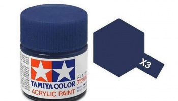 X-3  Royal Blue Acrylic Paint Mini X3 - Tamiya