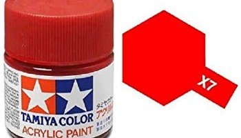 X-7 Red Acrylic Paint Mini X7 - Tamiya