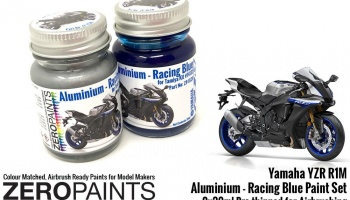 Yamaha YZR R1M - Aluminium and Racing Blue Paint Set 2x30ml - Zero Paints