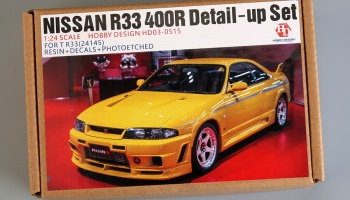 Nissan R33 400R Detail-up Sets For T R33 24145 (Resin+PE+Decals+Metal parts) - Hobby Design
