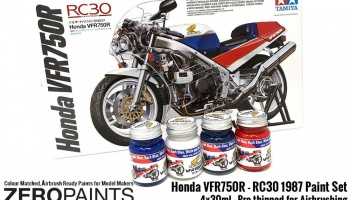 Honda VFR750R - RC30 1987 Paint Set 4x30ml - Zero Paints