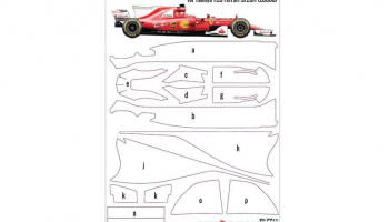 Pre-Cut Masking Sheet for Tamiya Scuderia Ferrari SF70H (20068) - Zero Paints