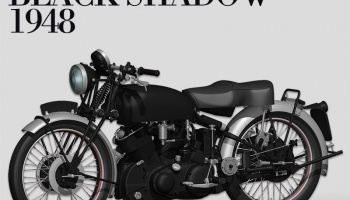 HRD VINCENT BLACK SHADOW 1948 Fulldetail Kit 1/9 - Model Factory Hiro