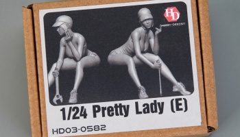 Pretty Lady (E)  (Resin+PE) 1/24 - Hobby Design
