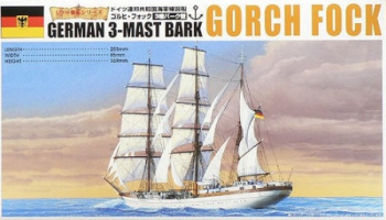 Gorch Fock German 3-Mast Bark 1/350 - Aoshima