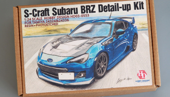 S-Craft Subaru BRZ Detail-up Kit For Tamiya 24324&24336(Resin+PE+Decals) 1/24 - Hobby Design