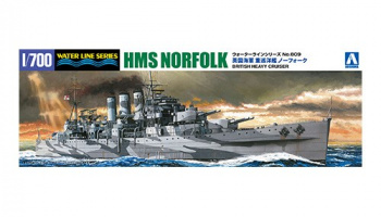 HMS Norfolk British Heavy Cruiser 1/700 - Aoshima