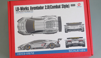 LB-Works Aventador 2.0 (Combat Style) Full Detail Kit 1/24 - Hobby Design