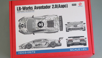 LB-Works Aventador 2.0 (Aape) Full Detail Kit 1/24 - Hobby Design