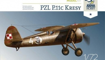 "1/72 PZL P.11c ""Kresy"" Model Kit"