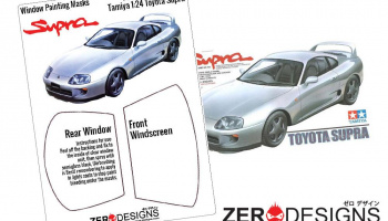 Toyota Supra Window Painting Masks (Tamiya) - Zero Paints