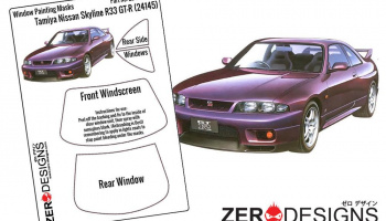Nissan Skyline R33 GT-R Window Painting Masks (Tamiya) - Zero Paints