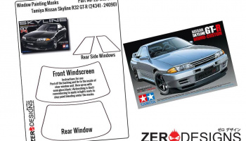 Nissan Skyline R32 GT-R Window Painting Masks (Tamiya) - Zero Paints