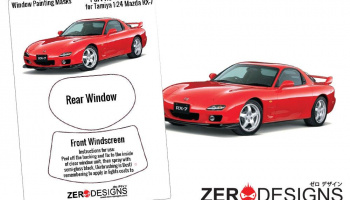 Mazda RX-7 FD3S Window Painting Masks (Tamiya) - Zero Paints