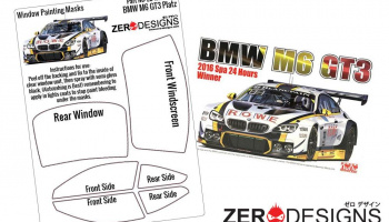 BMW M6 GT3 Window Painting Masks (Platz-NuNu) - Zero Paints