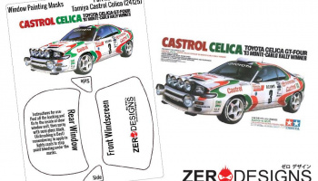 Castrol Celica Window Painting Masks (Tamiya 24125) - Zero Paints
