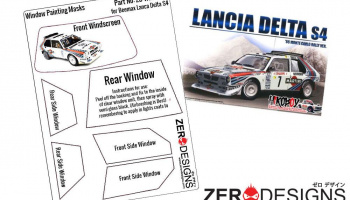 Lancia Delta S4 Rally Window Painting Masks (Beemax) - Zero Paints