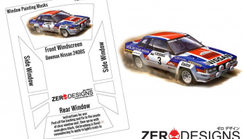 Nissan 240RS (BS110) Rally Window Painting Masks (Beemax) - Zero Paints