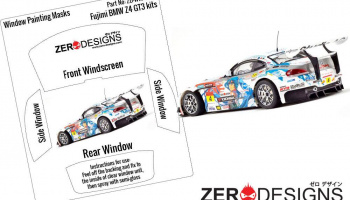BMW Z4 GT3 Window Painting Masks (Fujimi) - Zero Paints