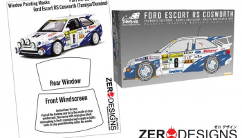 Ford Escort RS Cosworth Window Painting Masks (Tamiya/Domino) - Zero Paints
