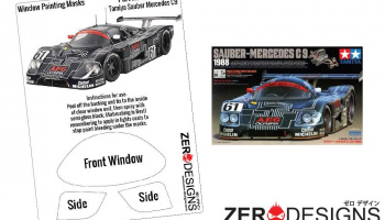 Sauber Mercedes C9 Window Painting Masks (Tamiya) - Zero Paints