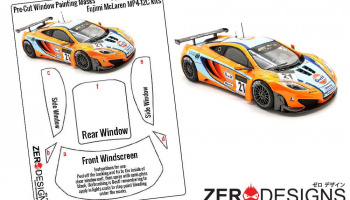 McLaren MP4-12C GT3 Window Painting Masks (Fujimi) - Zero Paints