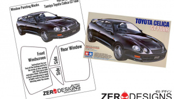 Toyota Celica GT-Four Window Painting Masks (Tamiya) - Zero Paints