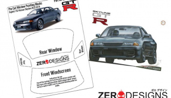 Nissan Skyline R32 GT-R Window Painting Masks (Fujimi) - Zero Paints
