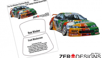 Honda Accord JTCC Window Painting Masks (Tamiya) - Zero Paints