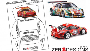 Porsche 911 GT3 Pre Cut Window Painting Masks (Fujimi) - Zero Paints