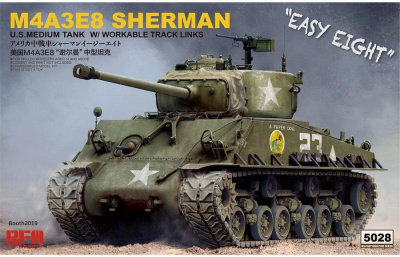 1/35 SHERMAN M4A3E8 with workable Track links