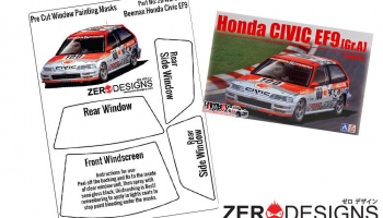 Honda Civic EF9 Pre Cut Window Painting Masks (Beemax) - Zero Paints
