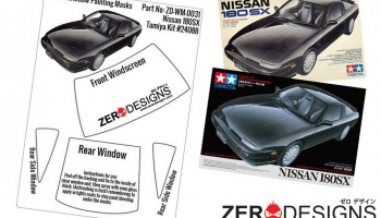 Nissan 180SX Pre Cut Window Painting Masks (Tamiya) - Zero Paints