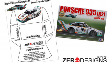 Porsche Kremer 935 K2 Pre Cut Window Painting Masks (Beemax) - Zero Paints