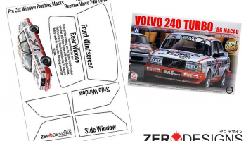 Volvo 240 Turbo Pre Cut Window Painting Masks (Beemax) - Zero Paints