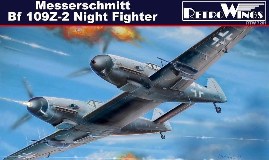 A MODEL 1/72 72217 MESSERSCHMITT Bf 109Z Model Kit
