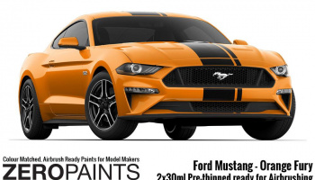 Ford Mustang 2019 - Orange Fury 2x30ml - Zero Paints