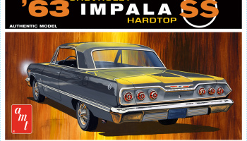 Chevy Impala SS HardTop 1963 1/25 Scale Model Kit - AMT