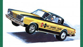"PLYMOUTH BARRACUDA ""HEMI UNDER GLASS""1966 1:25 - AMT"