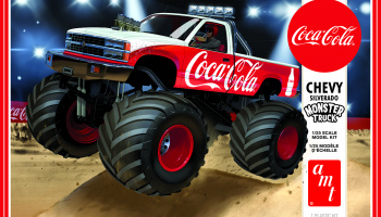 SILVERADO MONSTER TRUCK COCA-COLA 1988 CHEVY 1:25 - AMT