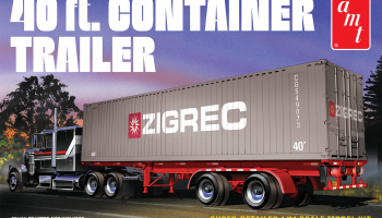 40' SEMI CONTAINER TRAILER 1:24 - AMT