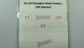 Metal Rivet No.4 Hexagon Head Rivets-L - Model Factory Hiro