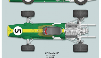 LOTUS Type 49 Fulldetail Kit 1/12 - Model Factory Hiro