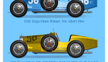 TYPE35 [ 1928 Targa Florio ] Fulldetail Kit 1/12 - Model Factory Hiro