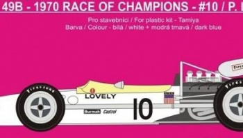 Lotus 49B P.Lovely 1970 Race Of Champions And Brands Hatch DECAL1/12- REJI MODEL