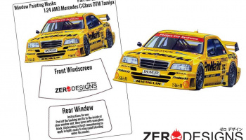 AMG Mercedes C-Class DTM Window Painting Masks (Tamiya) - Zero Paints