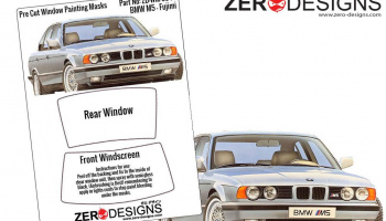 BMW M5 Pre Cut Window Painting Masks (Fujimi) - Zero Paints